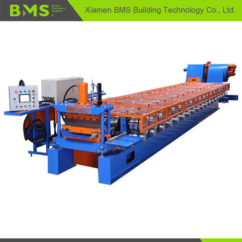 12-15m/Min Klip Lok Roof Panel Roll Forming Machine Touching Screen Control
