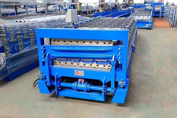 Double Layer Roof Panel Roll Forming Machine 12-15m/min 12 Months Warranty