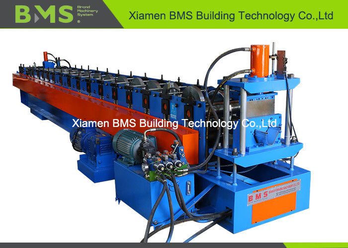 SGS Gutter Roll Forming Machine For Poultry Feeding With Hydraulic Punching